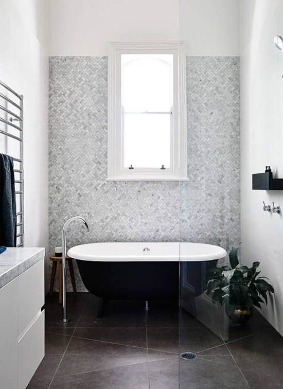 Inspiration 18 l design llc for Monochromatic bathroom designs
